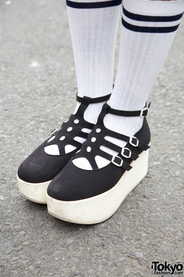 Tokyo Bopper Platform Shoes & Striped Socks