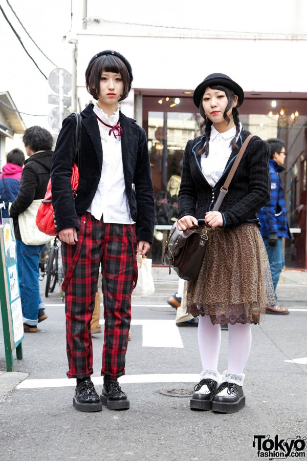 Tartan Plaid Pants vs. Animal Print Chiffon Skirt
