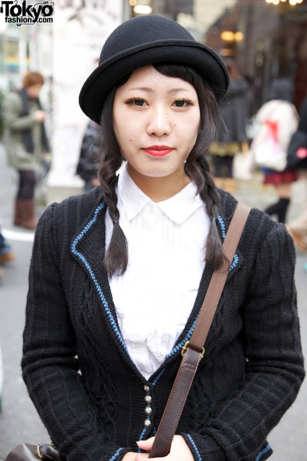 Derby hat & braids in Harajuku