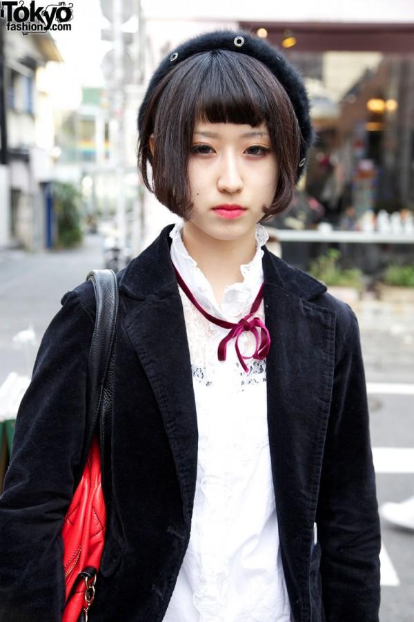 Velveteen blazer & blouse from Shimamura