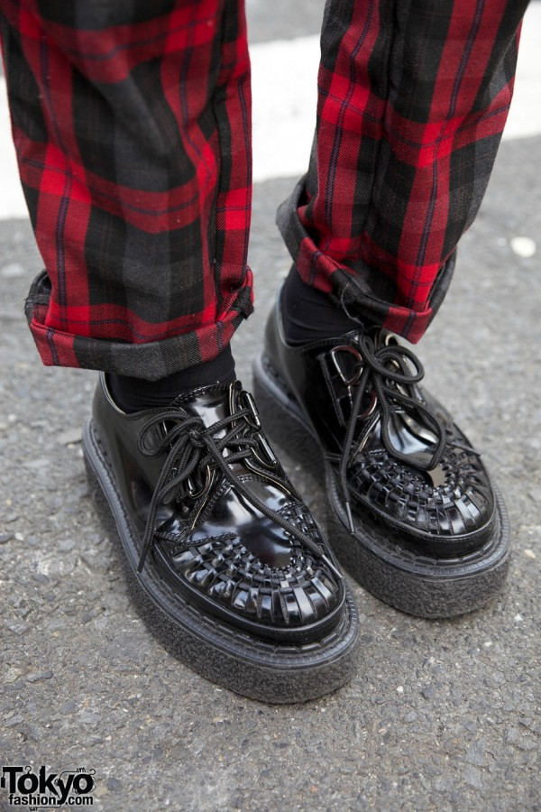Tartan Pants & Creepers in Harajuku