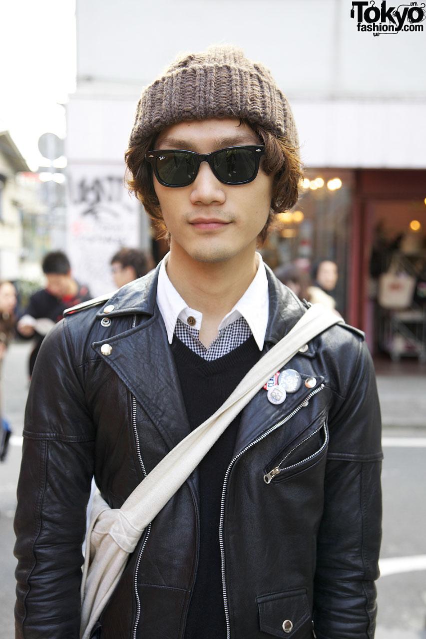 Vintage Leather Jacket w/ H&m