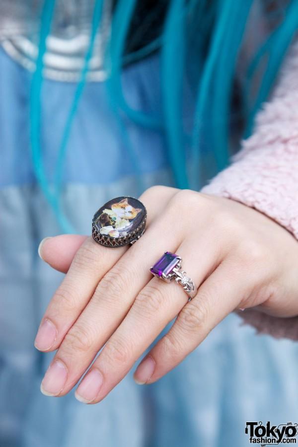 Cute Ni_Na Cat Ring & Justin Davis Ring