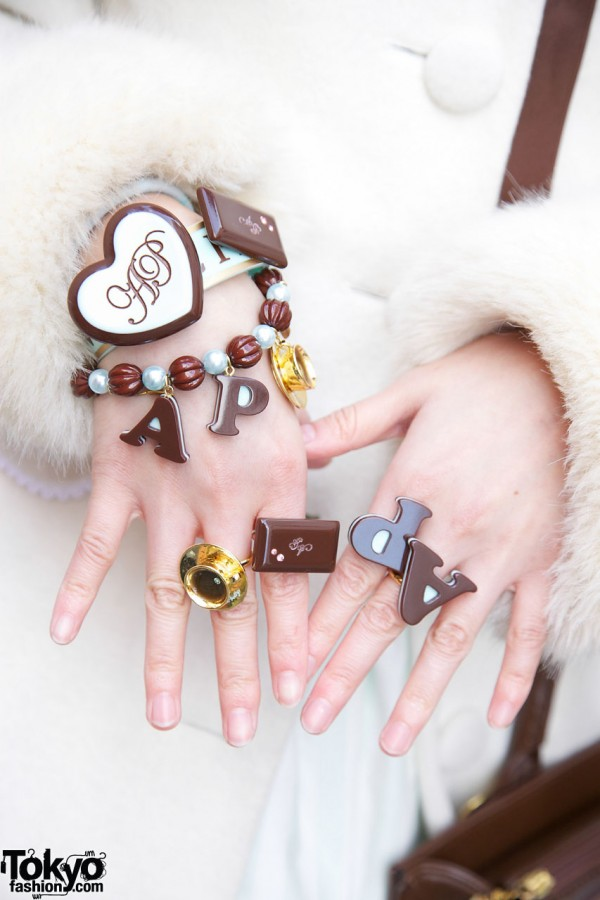 Angelic Pretty rings & bracelets in Harajuku