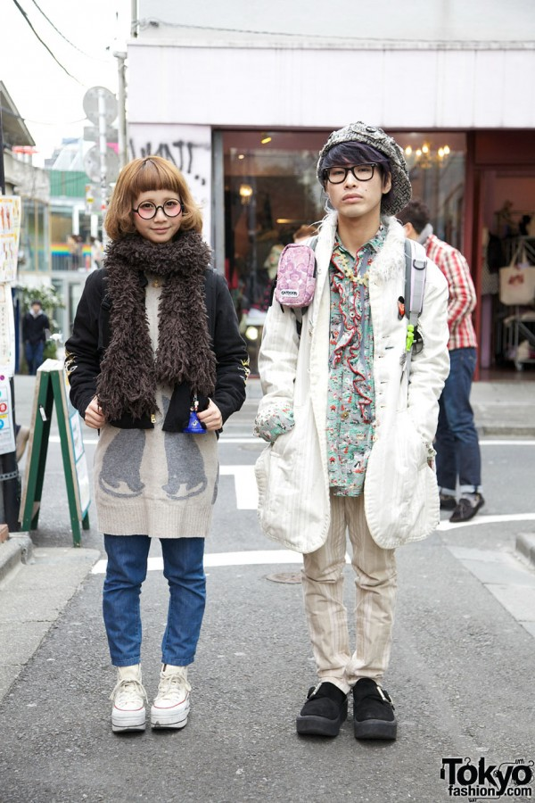 Harajuku Couple in Undercover, Toyo Enterprise & See by Chloe