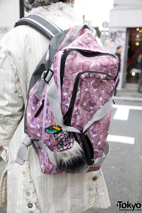 AHCAHCUM.muchacha vintage print backpack