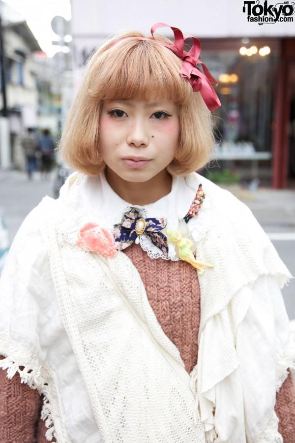 Resale sweater & shawl in Harajuku