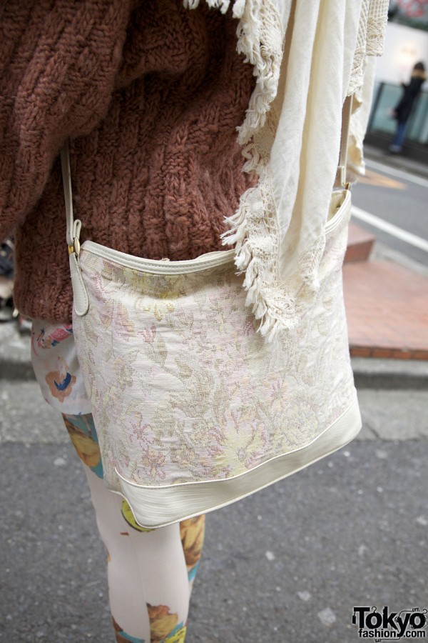 White brocade purse from Chicago