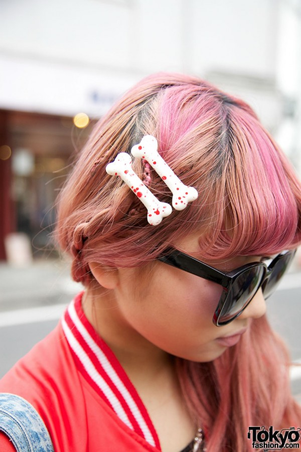 Bone Hair Clips in Harajuku