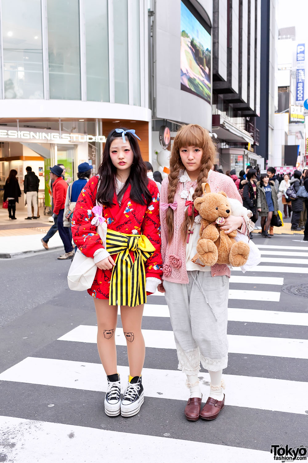 Harajuku Girls Colorful Fashion Amp Cute Teddy Bears