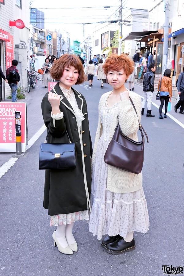 Vintage Style Harajuku Girls w/ Cute Short Hairstyles