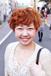 cute short red japanese hairstyle  tokyo fashion news