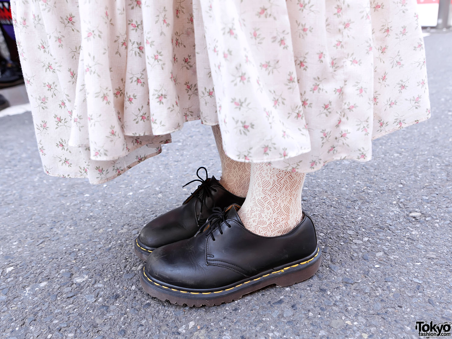 Long flower dress dr martens tokyo fashion news long flower dress dr martens mightylinksfo Image collections