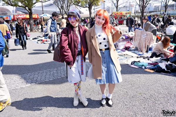 Coi & Guppy from Bubbles Harajuku at Yoyogi Flea Market