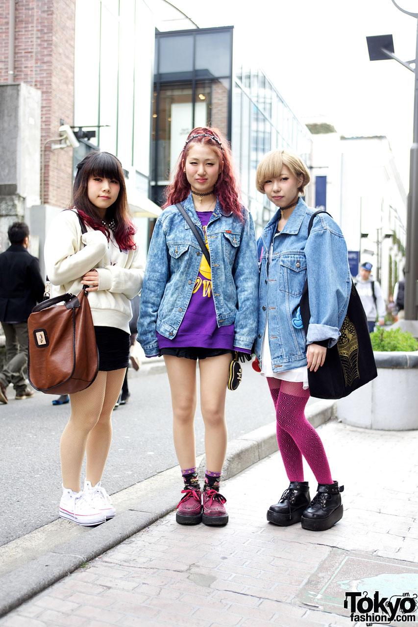 Acid Wash Jackets Denim Shirts Tokyo Spring Fashion Trends