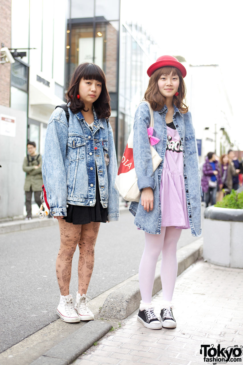 Acid Wash Jackets u0026 Denim Shirts - Tokyo Spring Fashion Trends