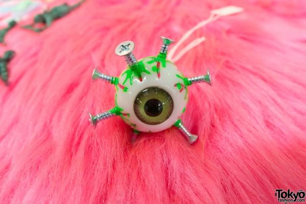 Broken Doll Eyeball Necklace