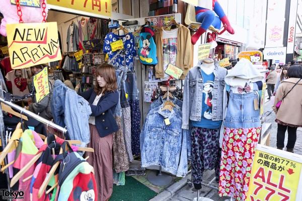 Acid Wash Jackets & Denim Shirts in Harajuku