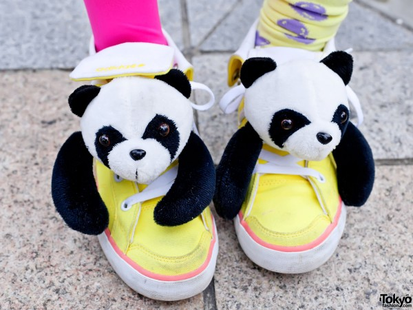 Cute Panda Sneakers In Harajuku