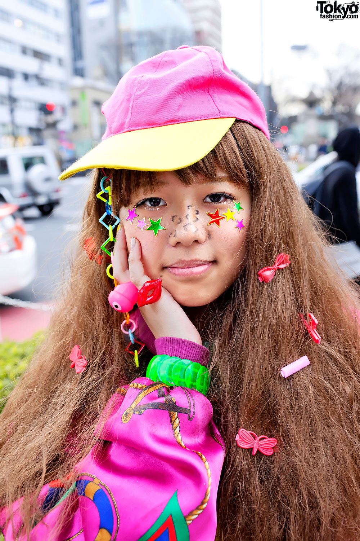 Harajuku Rainbow Decora Color Explosion Girls