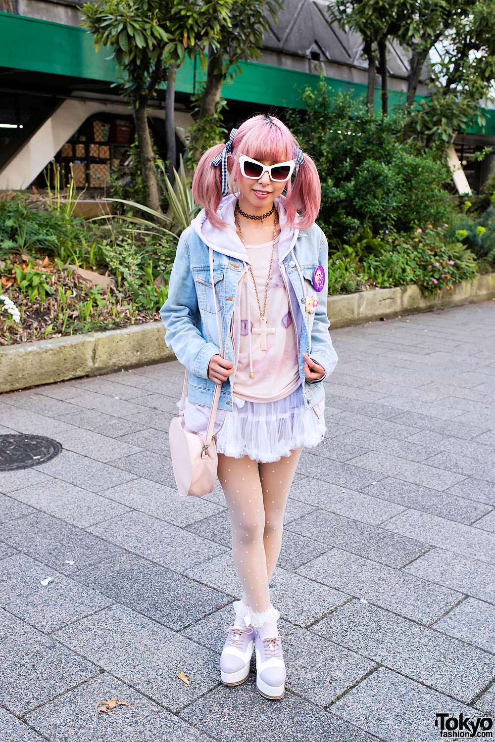 Denim Jacket & Tulle Skirt in Shibuya