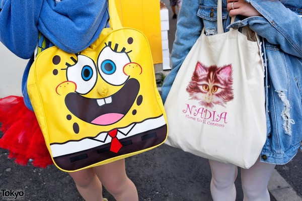 SpongeBob x Nadia Harajuku Bags