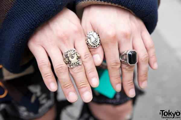Vintage Silver Rings in Harajuku