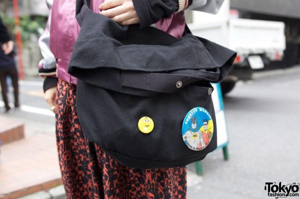 natuRAL vintage messenger bag