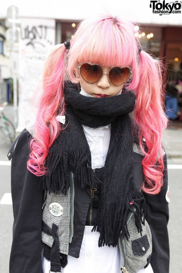 Juria Nakagawa Pink Hair in Harajuku