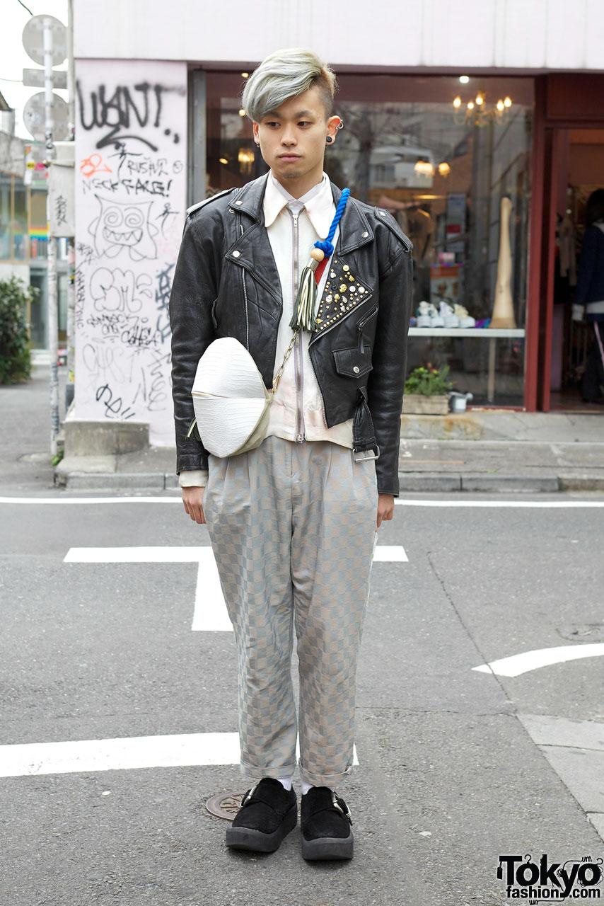 Harajuku Guy S Silver Hair Tasseled Banzai Bag Amp Sokkyou