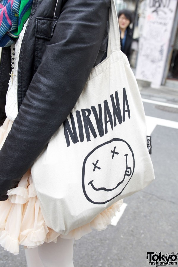 Nirvana tote bag from Hysteric Glamour