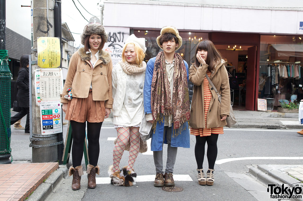 Stylish quartet in lowry s farm h m haight ashbury w for Friend in japanese