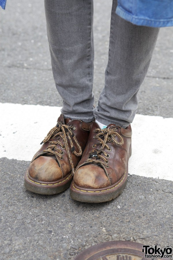 Skinny jeans & oxford shoes in Harajuku