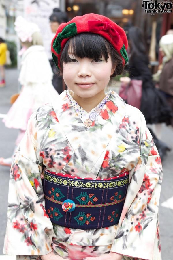 Mayu's Kimono in Harajuku