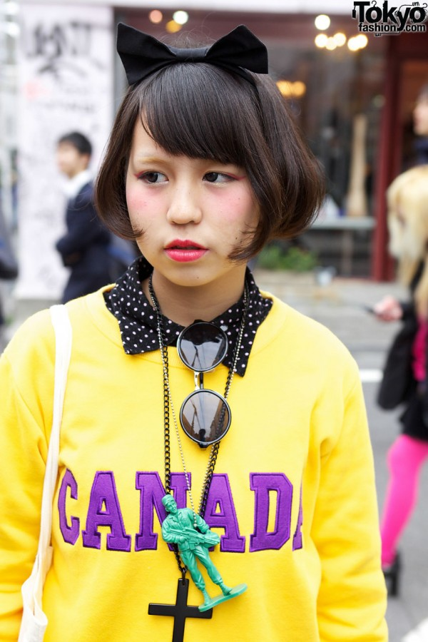 Red Lipstick & Hair Bow in Harajuku