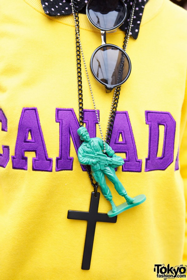 Toy Soldier Necklace in Harajuku