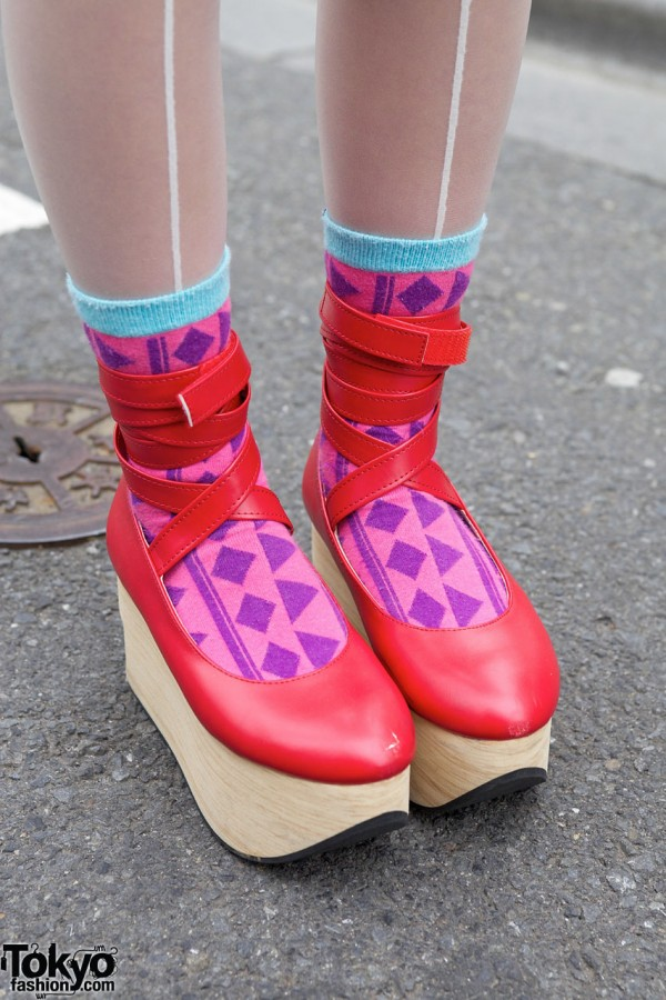 Red Rocking Horse Shoes in Harajuku