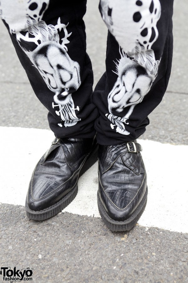 Daniel Palillo graphics pants & Underground shoes