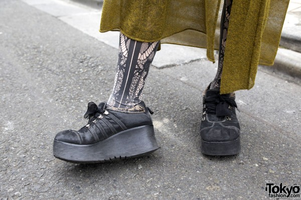 OTOE platform sneakers & lace tights