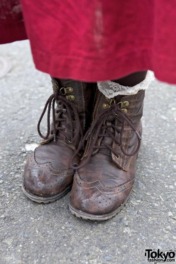 Panama Boy dress & laceup boots in Harajuku