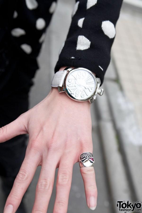 Silver Skull Ring & Watch in Harajuku