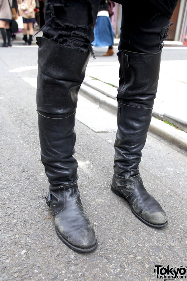 Knee-High Men's Boots in Harajuku