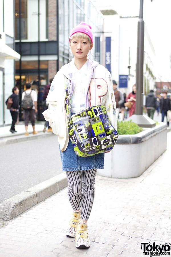 MaU from Kinsella Harajuku w/ Pink House & Vintage Sneakers