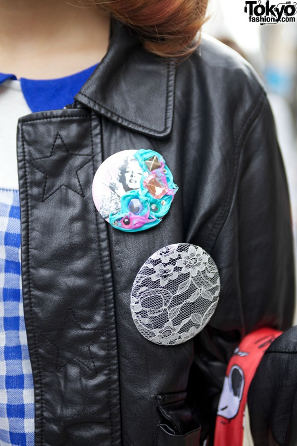 Monomania Buttons in Harajuku
