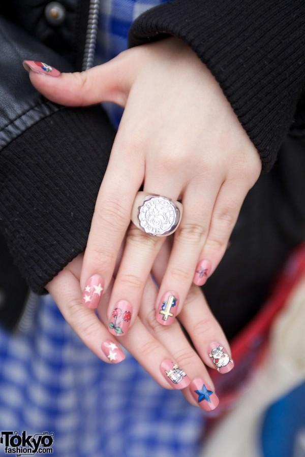 Cute Harajuku Nail Art & Monomania Ring