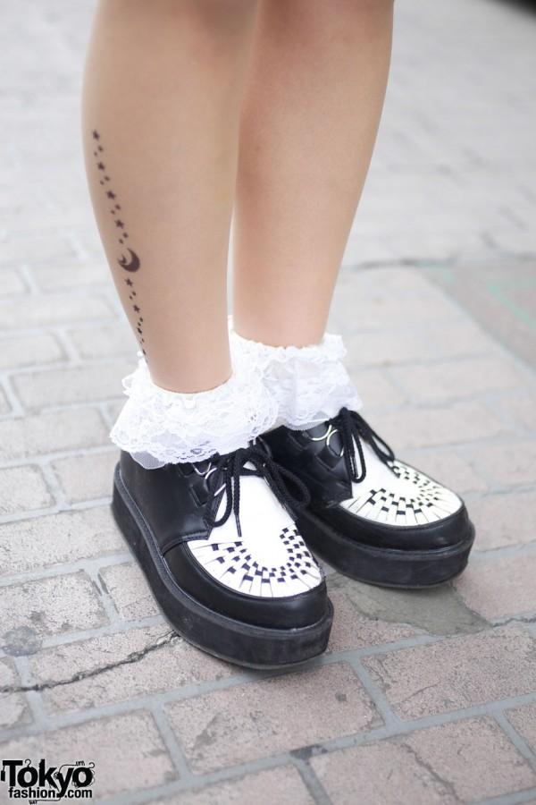 Tattoo Tights, Ruffles Socks & Creepers
