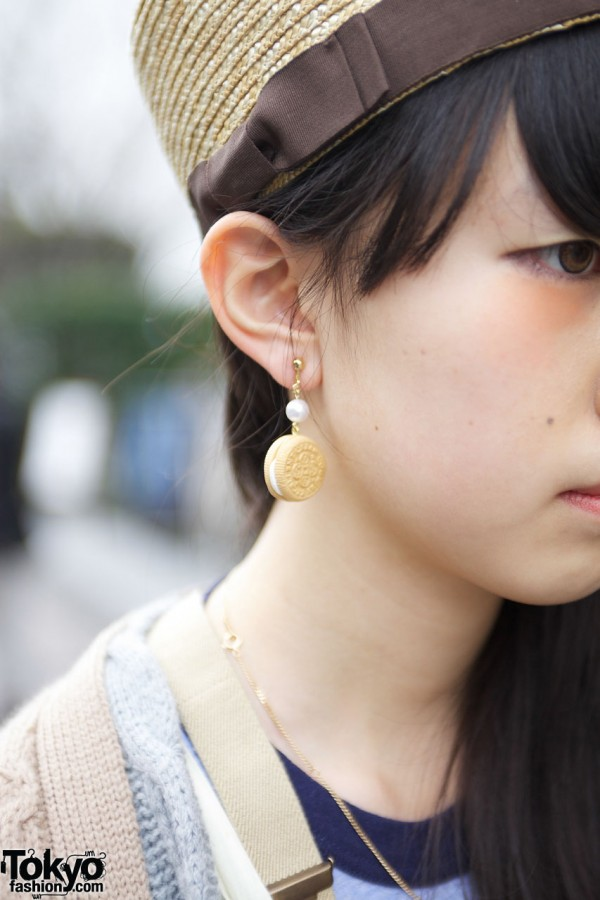 Cute Cookie Earring in Harajuku