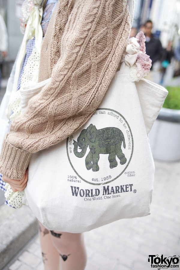World Market Bag From Chicago Resale Store