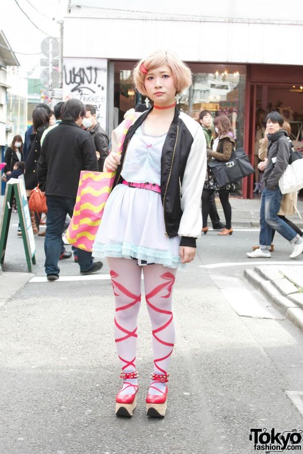 Nadia Harajuku Jacket & Sheer Top
