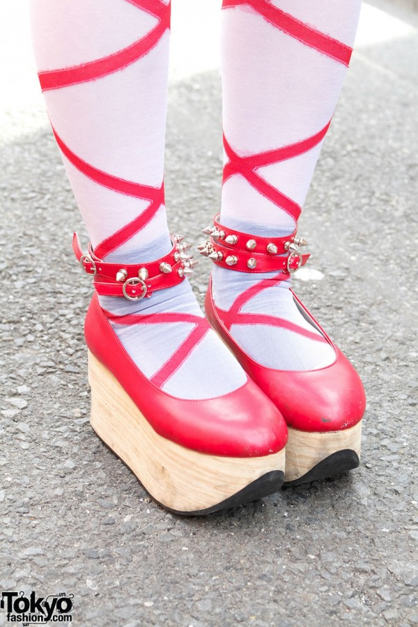 Red Rocking Horse Shoes & Tights